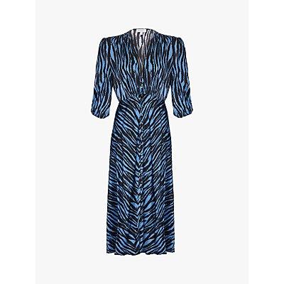 Ghost Lissa Animal Stripe Dress, Blue Zebra