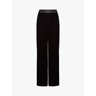 Ghost Eden Silk Velvet Trousers, Black