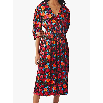 Ghost Eden Smock Detail Dress, Perla Floral