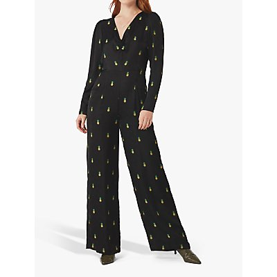 Ghost Iva Pineapple Jumpsuit, Black