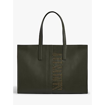 AllSaints Nina East West Stud Leather Tote Bag