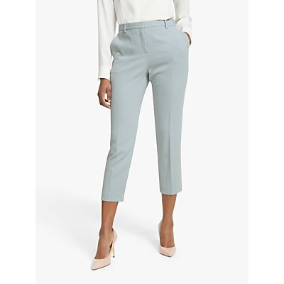 Theory Tailored Crepe Trousers, Mist Blue