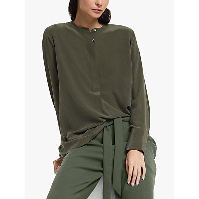 Modern Rarity Silk Tunic Blouse, Green