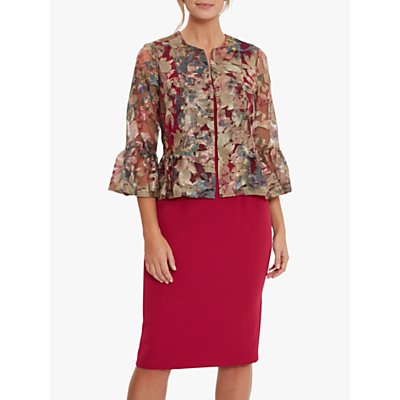 Gina Bacconi Frona Embroidered Jacket, Damson/Multi