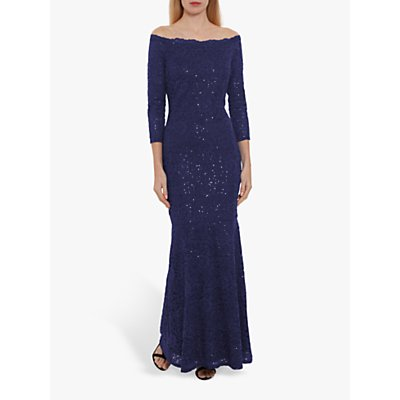 Gina Bacconi Acilia Sequin Lace Dress