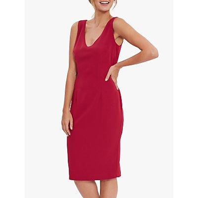 Gina Bacconi Merna Sleeveless Moss Crepe Shift Dress