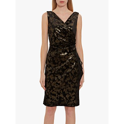 Gina Bacconi Cambria Metallic Velvet Wrap Dress