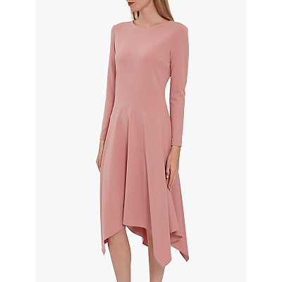 Gina Bacconi Lulana Soft Crepe Hanky Hem Dress