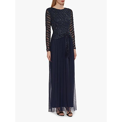 Gina Bacconi Zevvi Sequin Embellished Maxi Dress, Navy