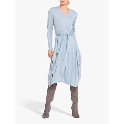 Helen McAlinden V-Neck Jersey Dress, Light Blue