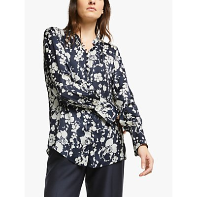 Joie Tariana Floral Print Blouse, Midnight