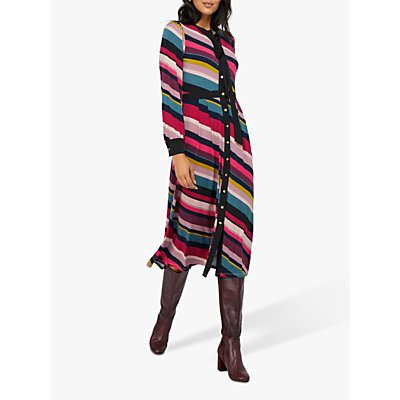 Monsoon Sonique Midi Dress, Multi