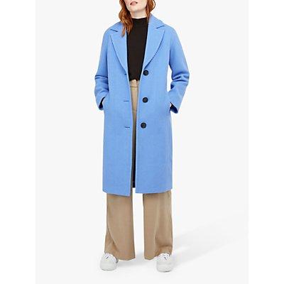 Monsoon April Textured Coat, Blue