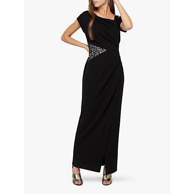 Monsoon Octavia Maxi Dress, Black