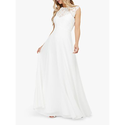 Monsoon Lilian Bridal Lace Maxi Dress, Ivory