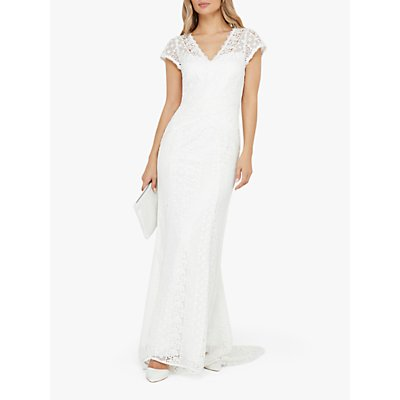 Monsoon Nellie Bridal Lace Maxi Dress, Ivory