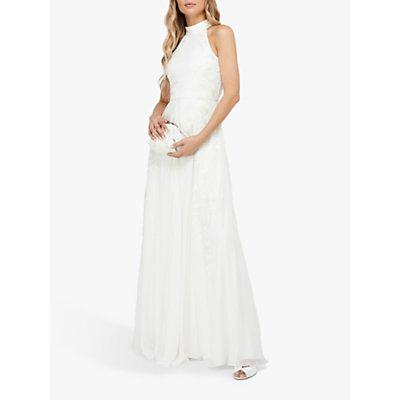 Monsoon Ethel Embellised Lace Bridal Gown, Ivory