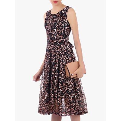 Jolie Moi Contrast Lace Dress