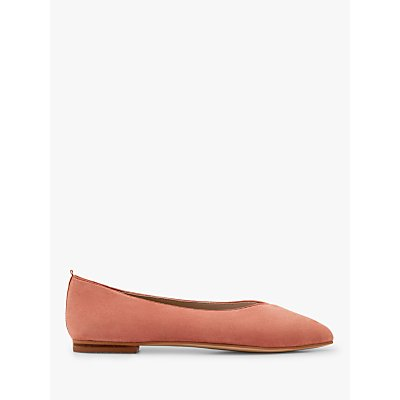 Boden Julia Suede Pointed Toe Flats, Chalky Pink