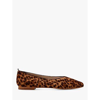 Boden Julia Cowhide Pointed Toe Flats, Leopard Print