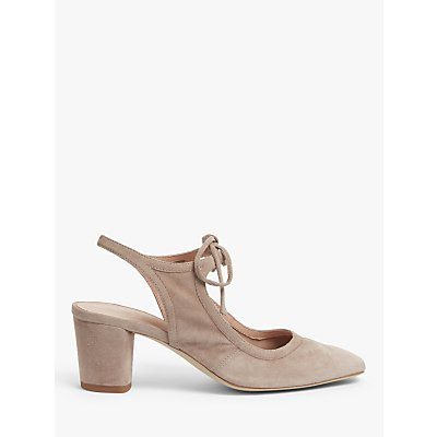 John Lewis & Partners Carenza Suede Slingback Court Shoes
