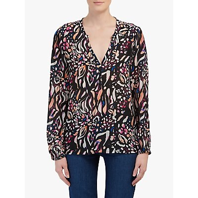 Pyrus Lucy Abstract Floral Print Blouse, Multi