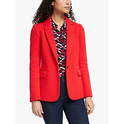 Boden Hall Jersey Blazer Jacket, Post Box Red