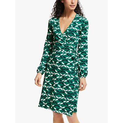 Boden Elodie Jersey Ribbon Print Wrap Dress