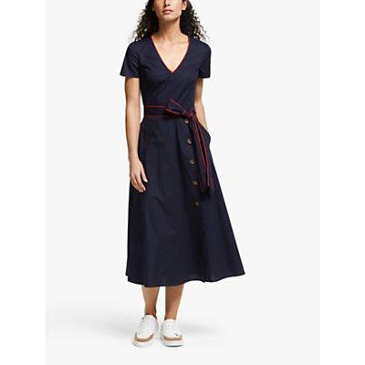 Boden Daisy Button Detail Dress, Navy