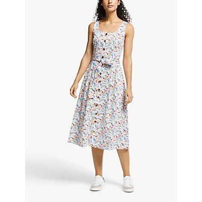 Boden Joanna Midi Dress, Ivory/Sea View
