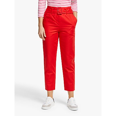 Boden Holkham Lightweight Trousers, Postbox Red