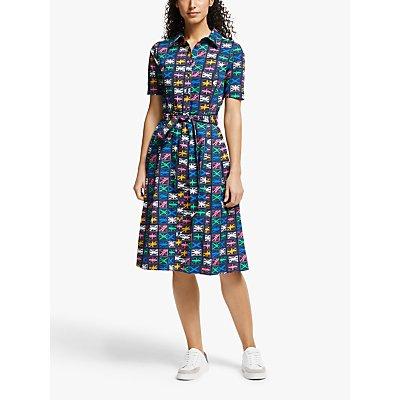 Boden Anastasia Shirt Dress, Navy Flags