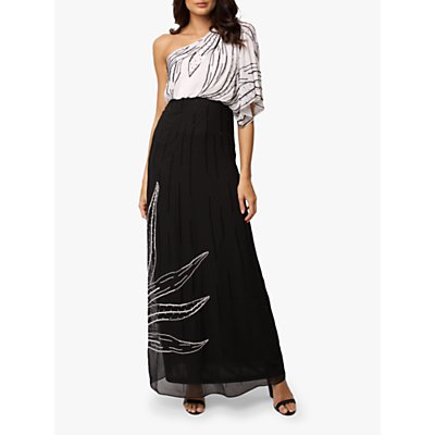 Raishma Meghan Monocharome Gown, Black/White
