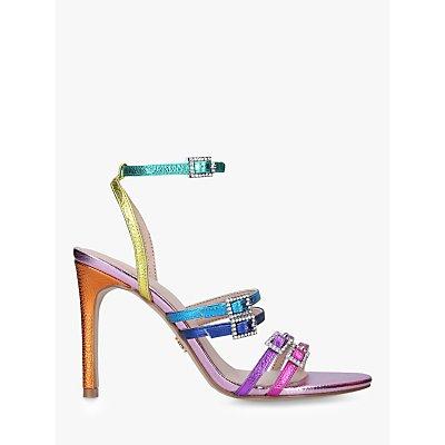 Kurt Geiger London Pierra Rainbow Stiletto Heel Strappy Sandals, Multi