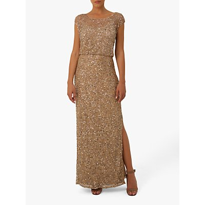 Raishma Marilyn Embellished Gown, Gold