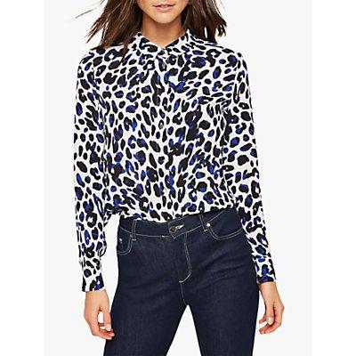 Damsel in a Dress Urban Leopard Blouse, Blue/Multi