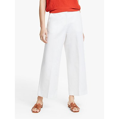 Weekend MaxMara Angio Cropped Wide Leg Trousers, White