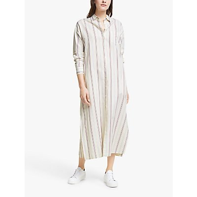 Weekend Max Mara Papy Linen Striped Midi Dress, Creamy Lines