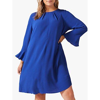 Studio 8 Avery Pleated Back Dress, Cobalt Blue
