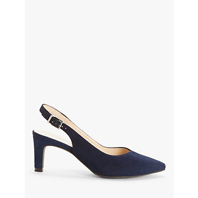 Peter Kaiser Medana Suede Slingback Court Shoes, Navy