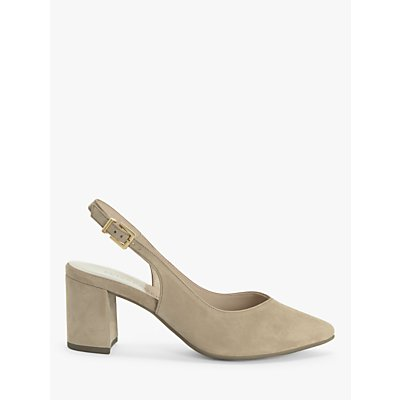 Peter Kaiser Nexy Suede Slingback Court Shoes, Natural