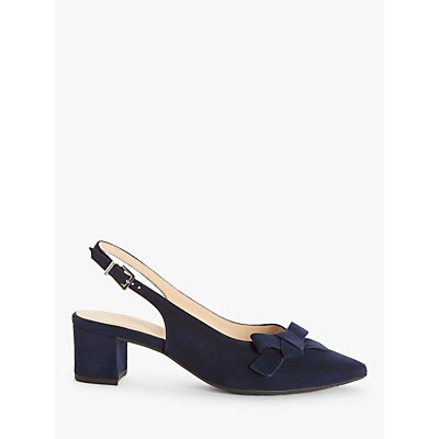 Peter Kaiser Shania Suede Bow Slingback Court Shoes, Navy