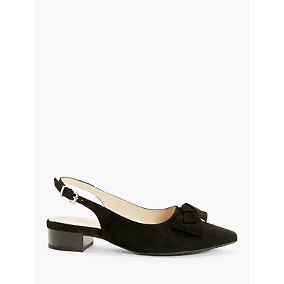 Peter Kaiser Adalia Suede Slingback Court Shoes, Black