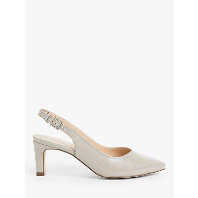 Peter Kaiser Medana Leather Slingback Court Shoes, Natural