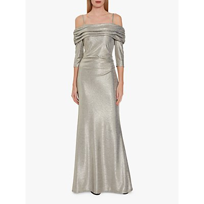 Gina Bacconi Hosanna Metallic Maxi Dress
