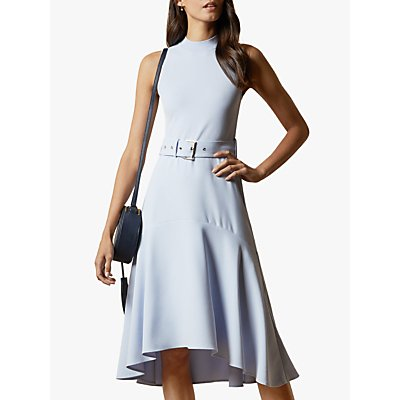 Ted Baker Corvala Sleeveless Midi Dress, Light Blue