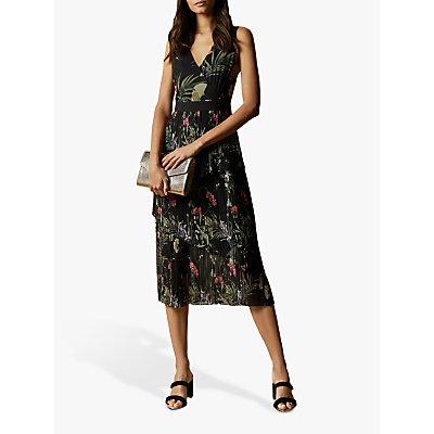 Ted Baker Malinae Highland Tiered Pleated Midi Dress, Black