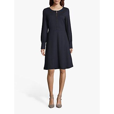 Betty Barclay Zip Detail Jersey Dress, Dark Sky