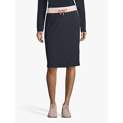 Betty Barclay Sporty Ribbed Jersey Skirt, Dark Sky