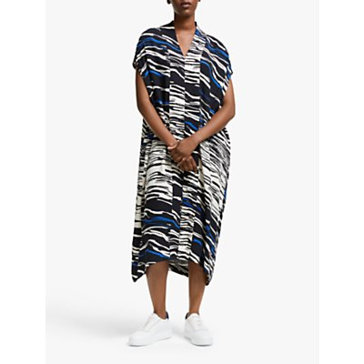 Kin Abstract Print Kimono Kaftan Dress, Blue